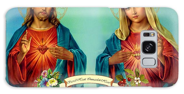 Sacred Heart Immaculate Heart  Galaxy Case