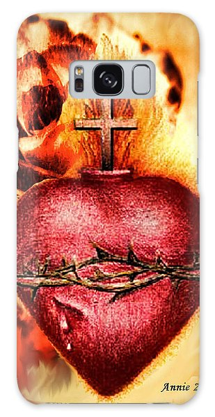 Sacred Heart Of Jesus Christ With Rose Galaxy Case