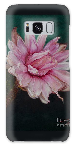 Sacred Red Lotus Galaxy Case by Mukta Gupta