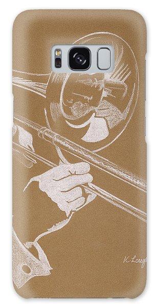 Trombone Galaxy Case - Sacred Trombone by Karen  Loughridge KLArt