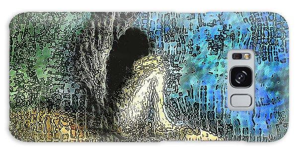 Sad Angel Galaxy Case by Shabnam Nassir