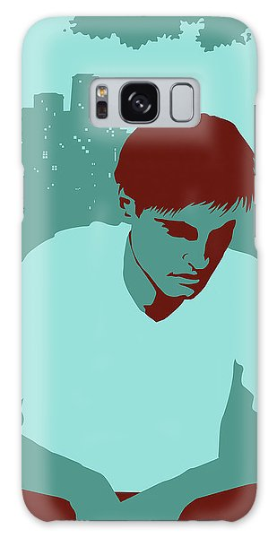Anguish Galaxy Case - Sad Man In Park With Couples by Ikon Ikon Images