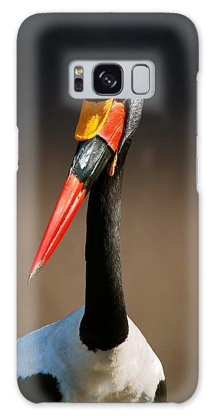 Stork Galaxy S8 Case - Saddle-billed Stork Portrait by Johan Swanepoel