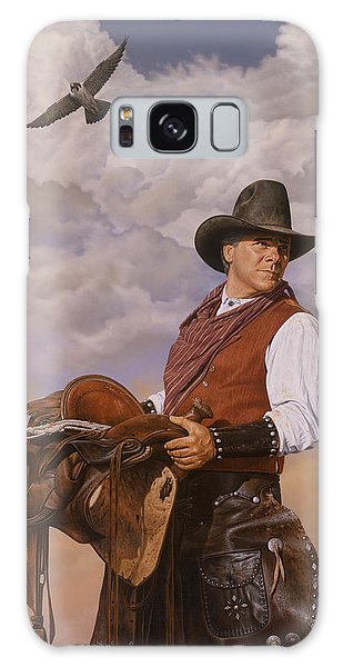 Saddle 'em Up Galaxy Case by Ron Crabb
