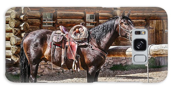 Saddled And Waiting Galaxy Case by Sue Smith