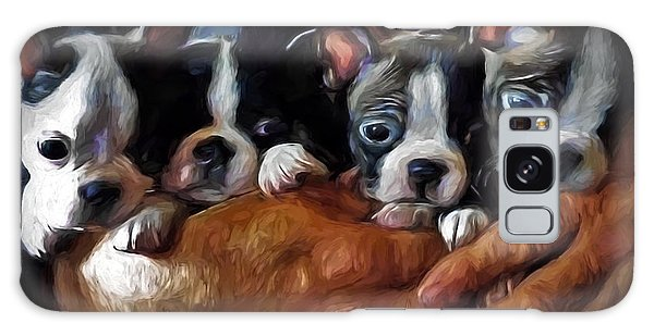 Safe In The Arms Of Love - Puppy Art Galaxy Case