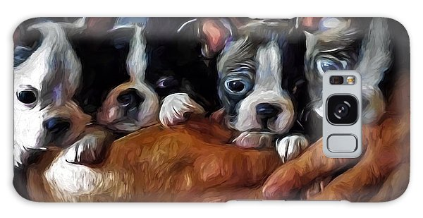 Safe In The Arms Of Love - Puppy Art Galaxy Case by Jordan Blackstone