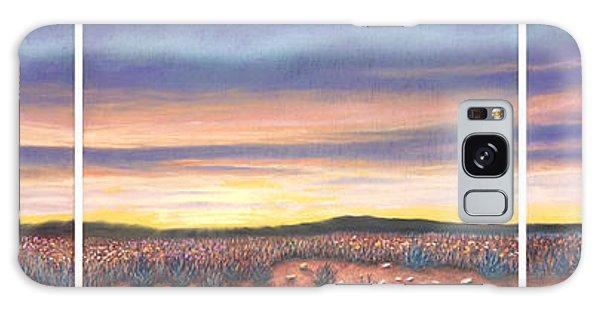 Sagebrush Sunset Triptych Galaxy Case