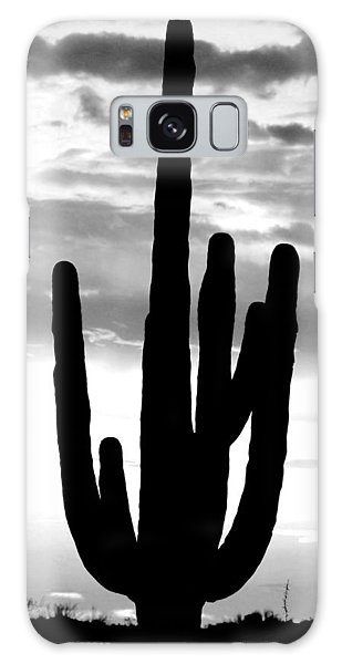 Saguaro In Black And White Galaxy Case