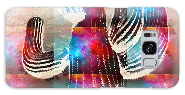 Saguaro Rainbow Collage Galaxy Case