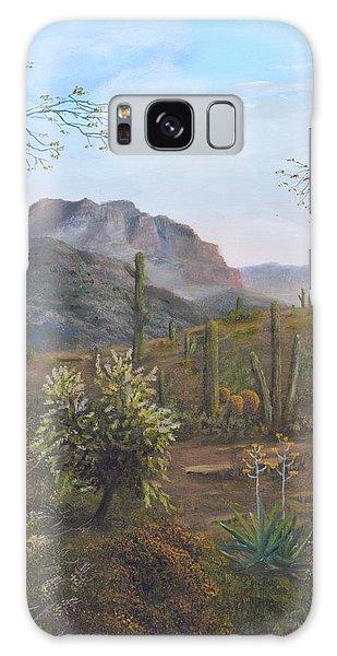Saguaro Sunrise  Galaxy Case
