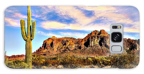 Saguaro Superstition Mountains Arizona Galaxy Case by Bob and Nadine Johnston