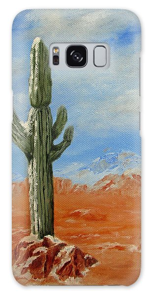 Saguaro In Snow Galaxy Case