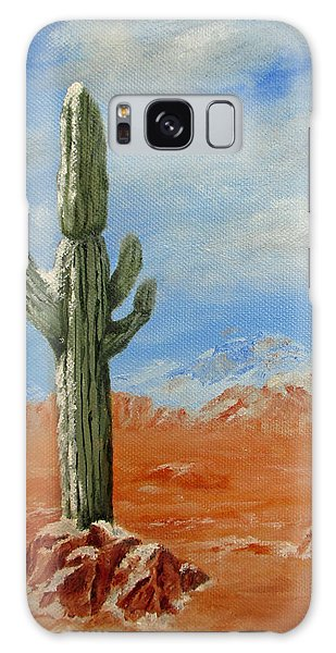 Saguaro In Snow Galaxy Case by Roseann Gilmore