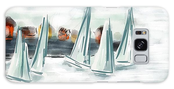 Sail Away With Me Galaxy Case by Patricia Olson