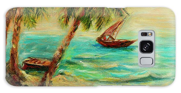 Sail Boats On Indian Ocean  Galaxy Case