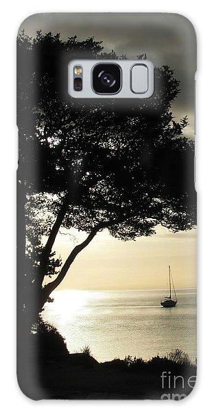 Sailboat At Dawn Galaxy Case