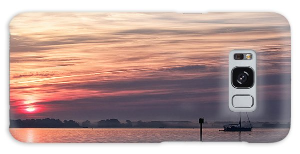Sailboat At Dawn Galaxy Case