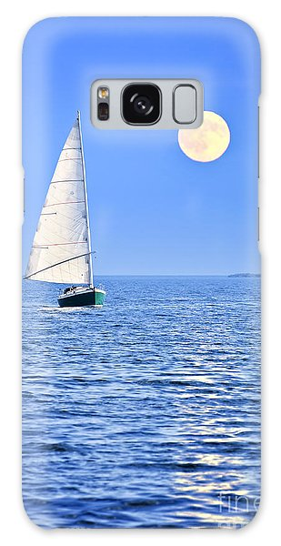 Boat Galaxy S8 Case - Sailboat At Full Moon by Elena Elisseeva
