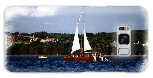 Sailboat At Lake Ray Hubbard Galaxy Case