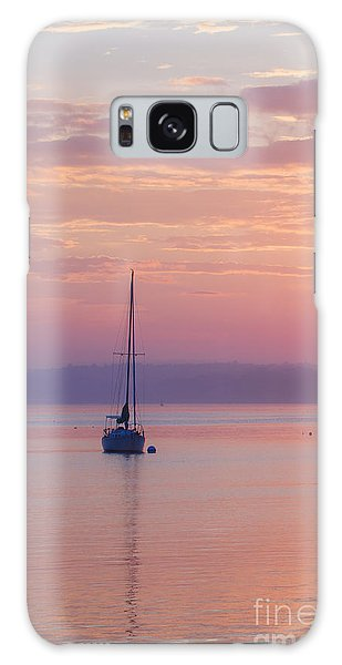 Ocean Sunset Galaxy S8 Case - Sailboat At Sunrise In Casco Bay Maine by Diane Diederich