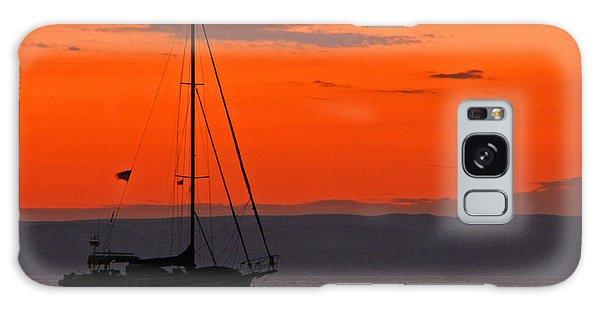 Sailboat At Sunset Galaxy Case
