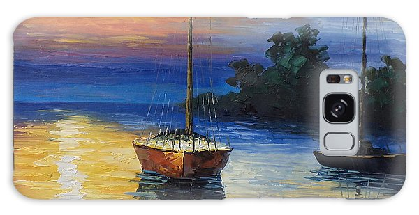 Sailboat At Sunset Galaxy Case