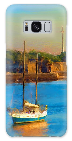 Da147 Sailboat By Daniel Adams Galaxy Case
