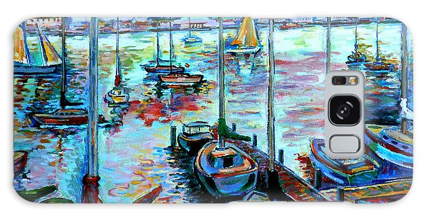 Sailboat Harbor Galaxy Case