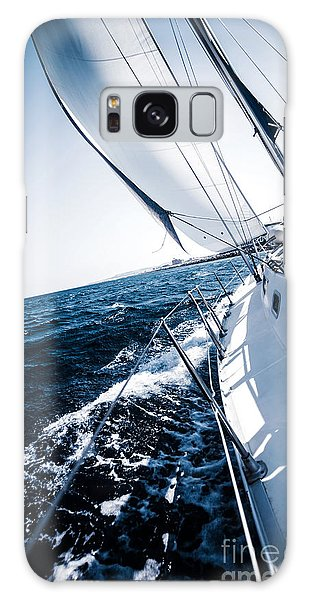 Sailboat In Action Galaxy Case