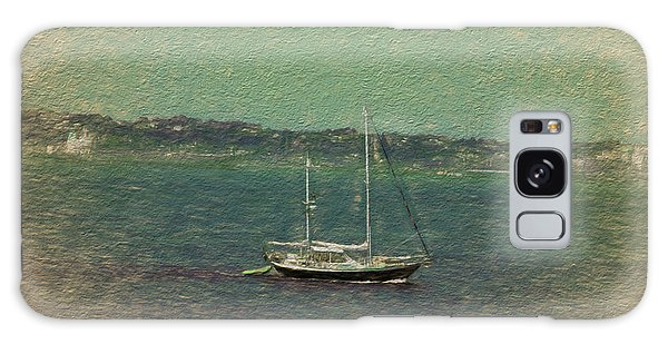 Sailboat In Bay Galaxy Case by Terry Cork