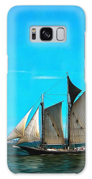 Sailboat In The Bay Galaxy Case