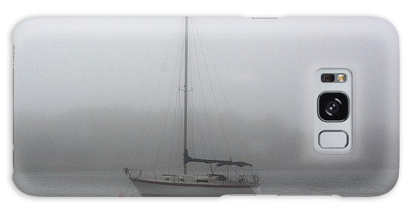 Sailboat In The Fog Galaxy Case by Dan Williams