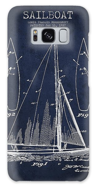 Boat Galaxy S8 Case - Sailboat Patent Drawing From 1927 by Aged Pixel