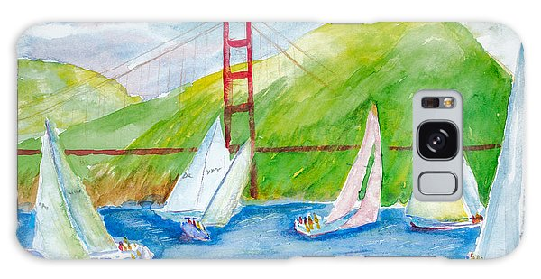 Sailboat Race At The Golden Gate Galaxy Case