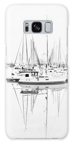 Sailboat Row  B/w Hi-key Galaxy Case