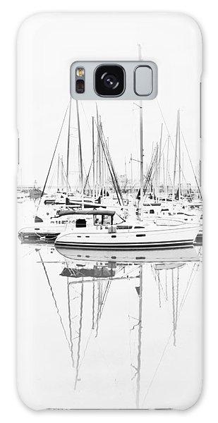 Sailboat Row  B/w Hi-key Galaxy Case by Greg Jackson