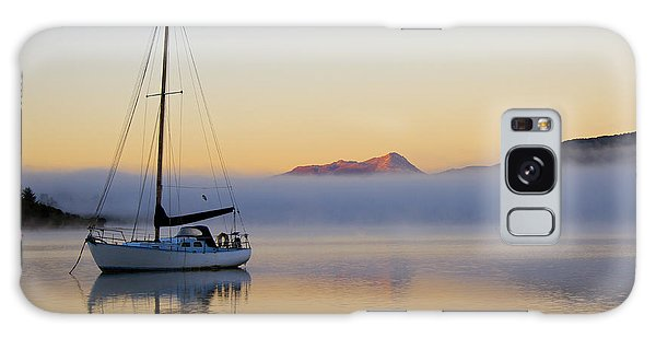 Sailboat Sunrise Te Anau Galaxy Case by Venetia Featherstone-Witty
