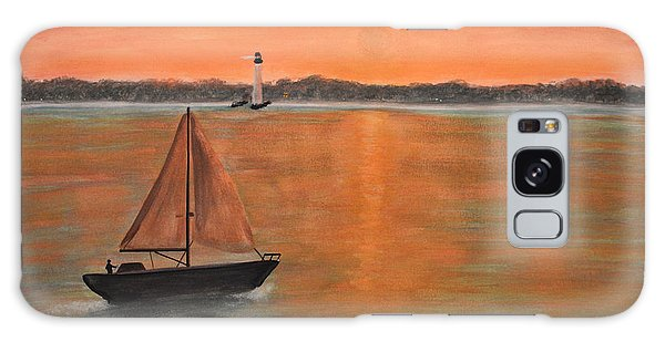 Sailboat Sunset Galaxy Case