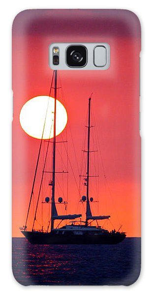 Sailboat Sunset Galaxy Case by Venetia Featherstone-Witty