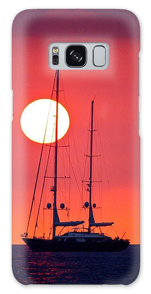 Sailboat Sunset Galaxy Case