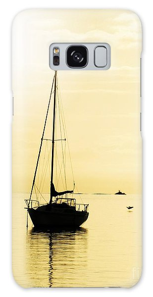 Sailboat With Sunglow Galaxy Case