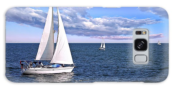 Sailboats At Sea Galaxy Case
