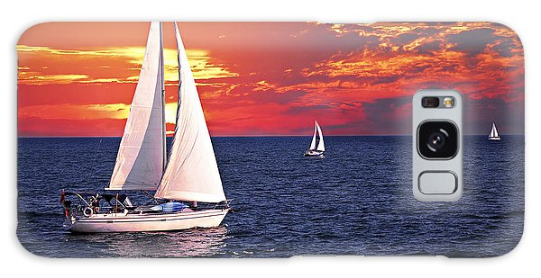 Boat Galaxy S8 Case - Sailboats At Sunset by Elena Elisseeva