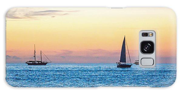 Sailboats At Sunset Off Key West Florida Galaxy Case