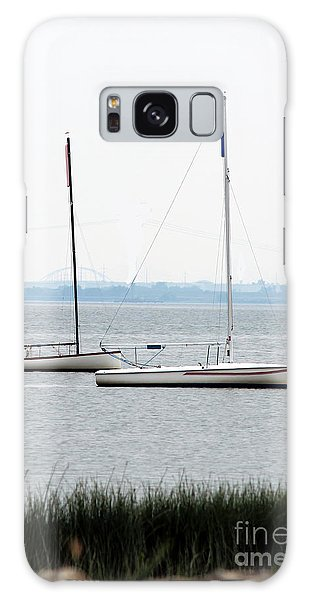 Sailboats In Battery Park Harbor Galaxy Case