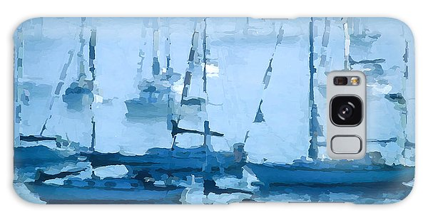 Sailboats In The Fog II Galaxy Case