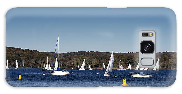 Sailboats On The Connecticut River Galaxy Case