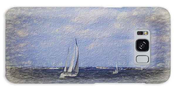 Sailboats Galaxy Case by Terry Cork