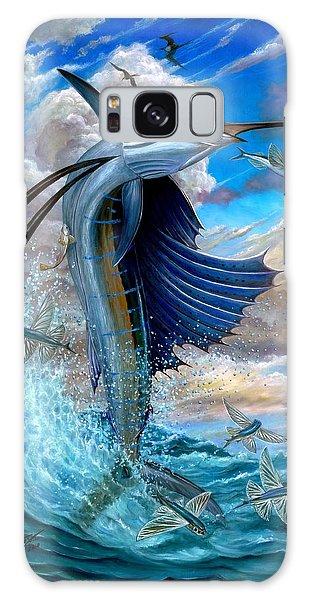 Sailfish And Flying Fish Galaxy Case
